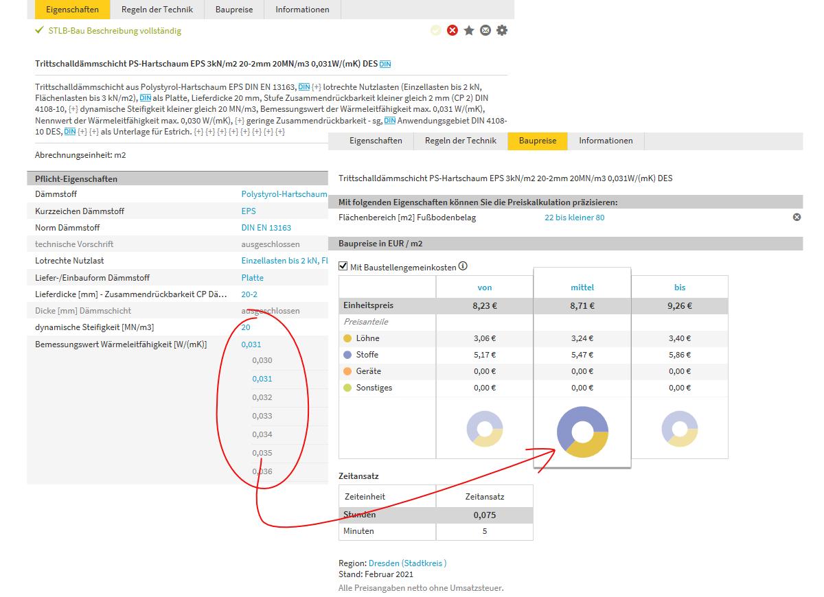 Preise genau passend zur Leistungsbeschreibung
