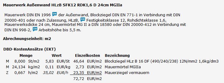 DBD-Baupreise
