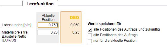 DBD-Lernfunktion